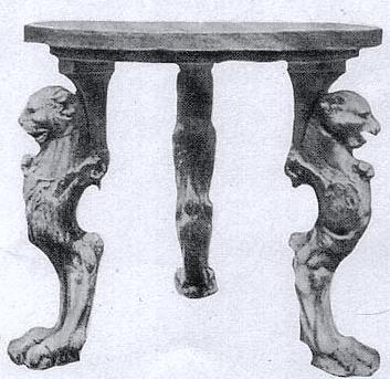 мебель из камня в древней Греции