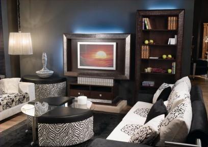 пример использования мебели в гостинной